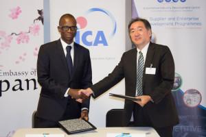 AIDC and Mr  Hiroyuki Kinomoto Chief Representative JICA