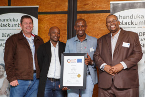 4 Charl Klopper, Togang Sebalo, Tommy  Maboe(1st place most jobs created)Emmanual Mdhuli